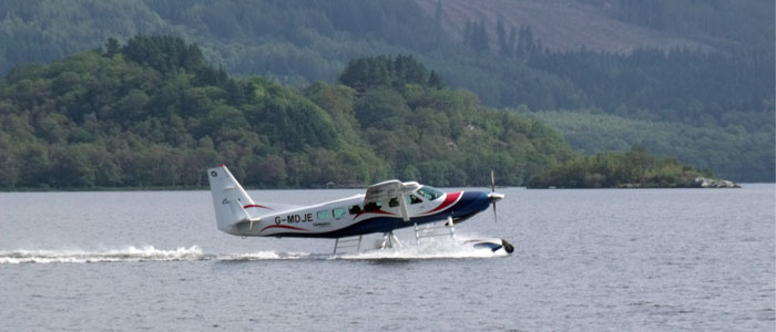 Loch Lomond Seaplanes offers regular sightseeing trips above the loch, with stunning views of the West Highlands and an aerial view of the Shepherd's House bed and breakfast!